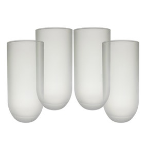 Pack of 4 Frosted Glasses