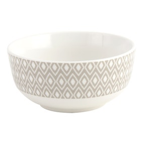 Geo Skandi Grey Collection Bowl