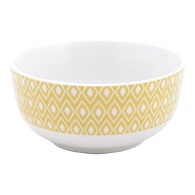 Yellow Geo Skandi Collection Bowl
