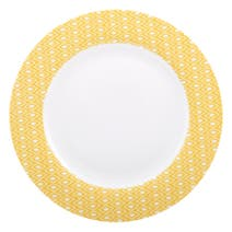 Yellow Geo Skandi Collection Dinner Plate