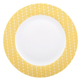 Geo Skandi Yellow Collection Dinner Plate