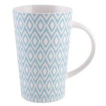 Blue Geo Skandi Collection Latte Mug