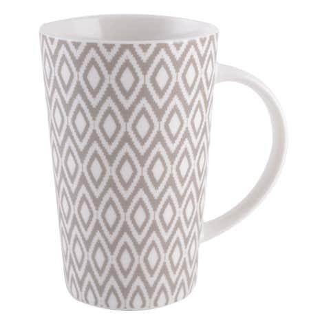 Geo Skandi Grey Latte Collection Mug