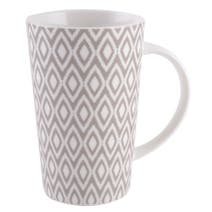 Grey Geo Skandi Latte Collection Mug