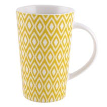 Yellow Geo Skandi Collection Latte Mug