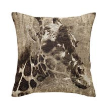 Black Giraffe Tapestry Cushion