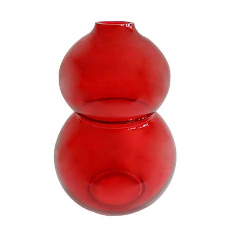 Elements Red Glass Contemporary Vase