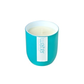 Elements Teal Glass Water Scented Candle