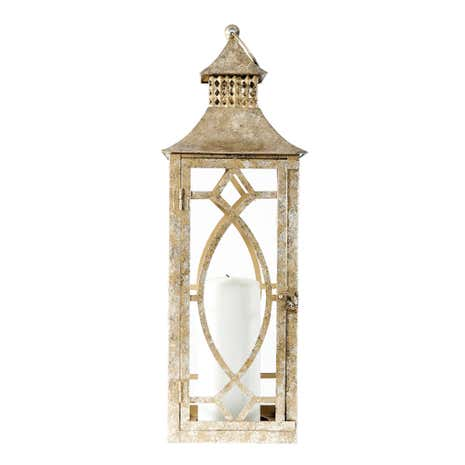 Gold Effect Metal Lantern