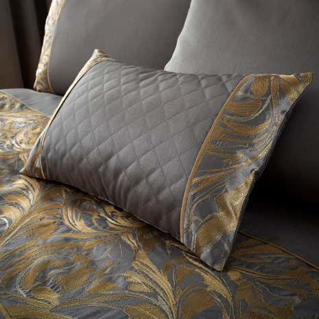 Grayson Pewter Boudoir Cushion