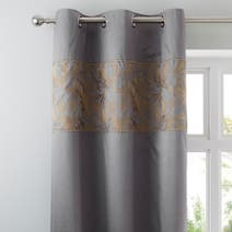 Pewter Grayson Thermal Eyelet Curtains