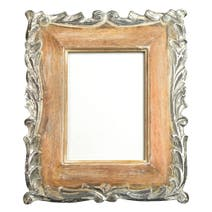 Silver Hand Carved Wooden Frame