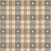 Grey Hearts PVC Fabric