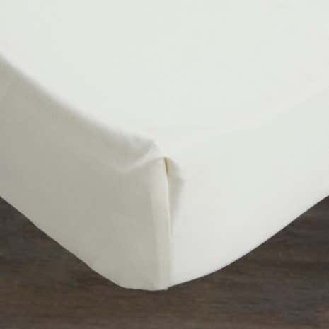 Hotel 300 Thread Count Cream 32cm Fitted Sheet