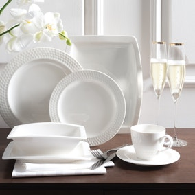Hotel White Ascot Collection Dinner Set
