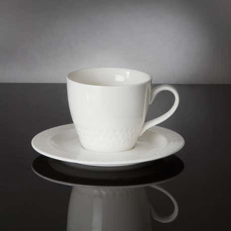 Hotel White Ascot Collection Cup and Saucer