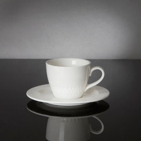 Hotel White Ascot Collection Espresso Cup and Saucer