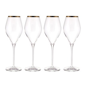 Gold Pack of 4 Red Wine Glasses