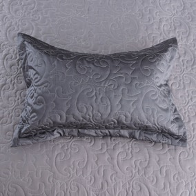 Kiss Me Goodnight Charcoal Pillow Sham