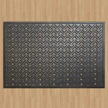 Large Black Rubber Mat