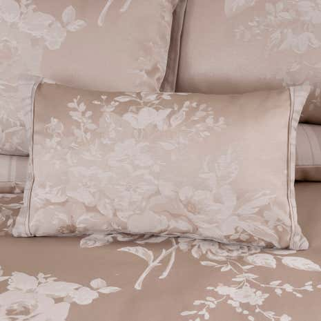 Laura Natural Jacquard Boudoir Cushion