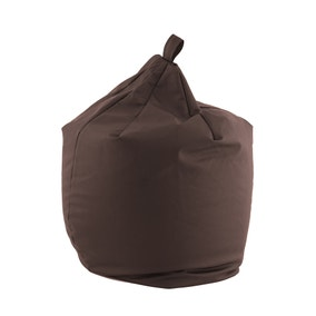 Chocolate Leather Look Bean Bag