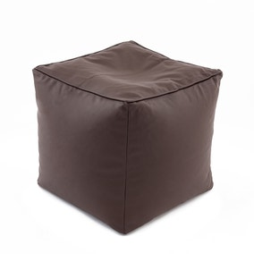 Chocolate Leather Look Bean Cube
