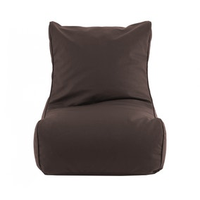 Chocolate Leather Look Bean Chair
