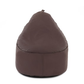 Chocolate Leather Look Bean Lounger