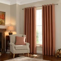 Rust Lennox Lined Eyelet Curtains