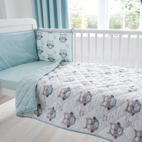 Little Owls Nursery Coverlet and Bumper Set