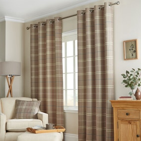 Lomond Lined Eyelet Curtains