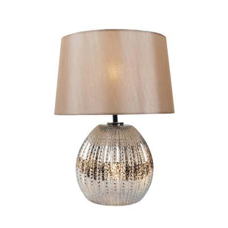 manhatten duel lit glass table lamp dunelm. Black Bedroom Furniture Sets. Home Design Ideas