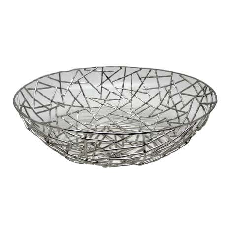 Silver Metal Triangles Bowl