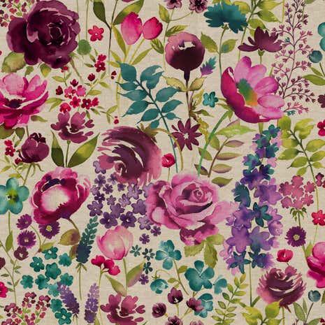 Misty Moors Floral Fabric Dunelm