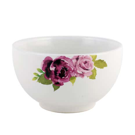 White Misty Moors Floral Bowl