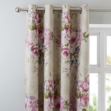 Misty Moors Plum Thermal Eyelet Curtains