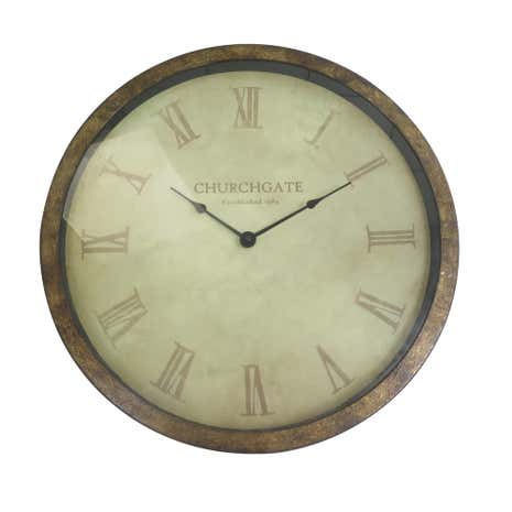 Bronze Misty Moors Metal Clock