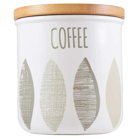 Monochrome Leaf Coffee Canister