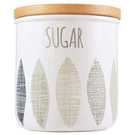 Monochrome Leaf Sugar Canister