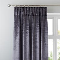 Charcoal Monroe Lined Pencil Pleat Curtains