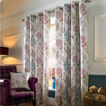 Berry Moorlands Lined Eyelet Curtains