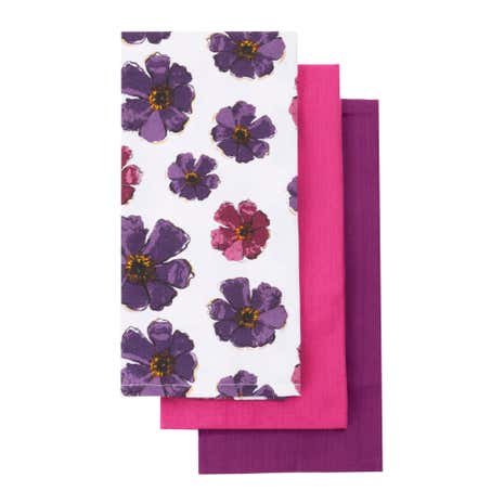 Pack of Three Mulberry Flower Tea Towels