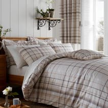 Natural Check Oxford Pillowcase