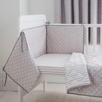 Neutral Nursery Coverlet and Bumper Set