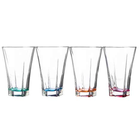 Set of 4 Novara Colour Highball Glasses
