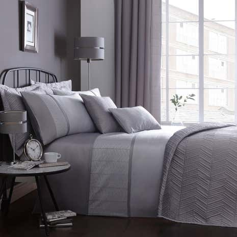 Owen Grey Duvet Cover