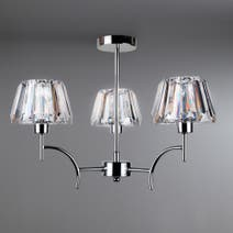 Paloma Acrylic 3 Light Fitting