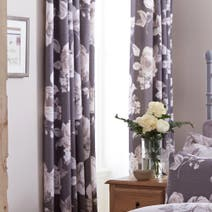 Charcoal Pretty Vintage Thermal Eyelet Curtains