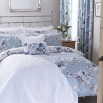 Pretty Vintage Duck Egg Duvet Cover Set